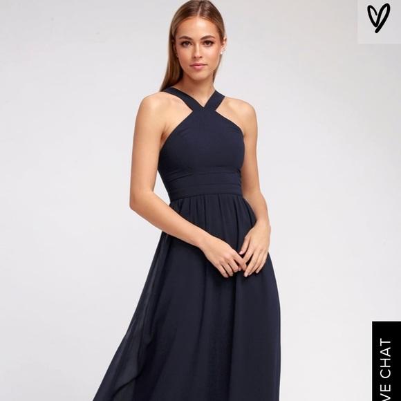 746ebc5addf Lulu s Dresses   Skirts - Lulus Air of Romance Navy Blue Maxi Dress